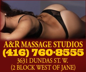 **SEDUCTIVE COMPANIONSHIP AT IT'S FINEST**  CHOOSE_1_out_25_ International–Group of Ladies – Weekly – World Wide Selection!  A&R Massage Studio 416.760.8555 WALK-IN's WELCOME 3631 Dundas st West, Toronto