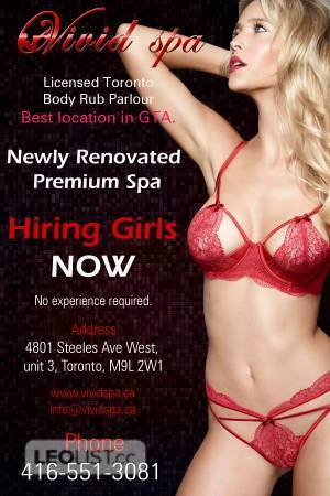 ***Hiring attractive hottie with banging hot bodies for our busy location @VIVID SPA